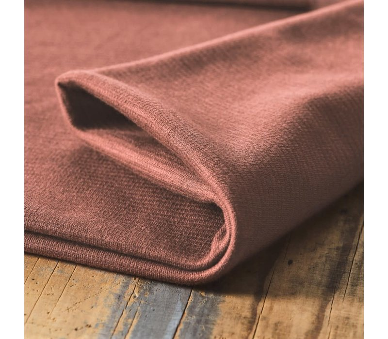 Organic Woolen Ottoman - Old rusty pink