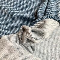 Soft Cotton Knit Weave - Petrolblue