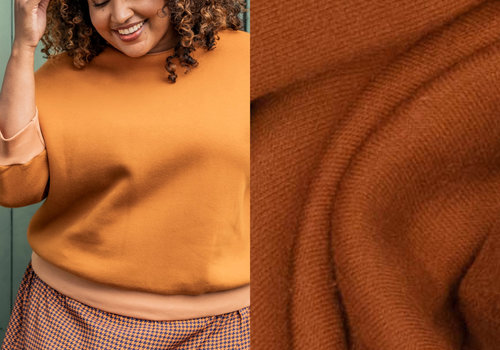 Fibre Mood Warme BIO Recycled Sweater Sugar Almond - Jo