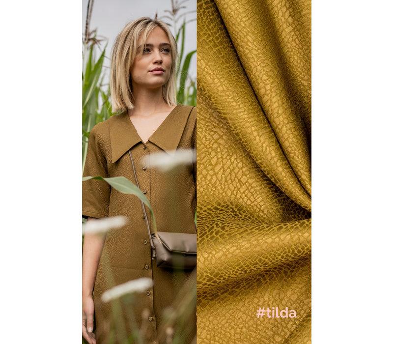 Woven Jacquard Green Animal - Tilda