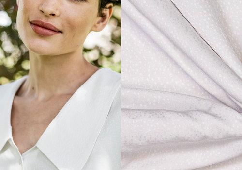 Fibre Mood Woven Jacquard White Dots - Tilda / Ermine