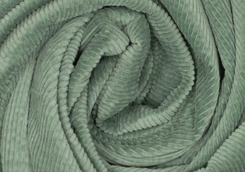 De Stoffenkamer Corduroy brede ribfluweel - old green
