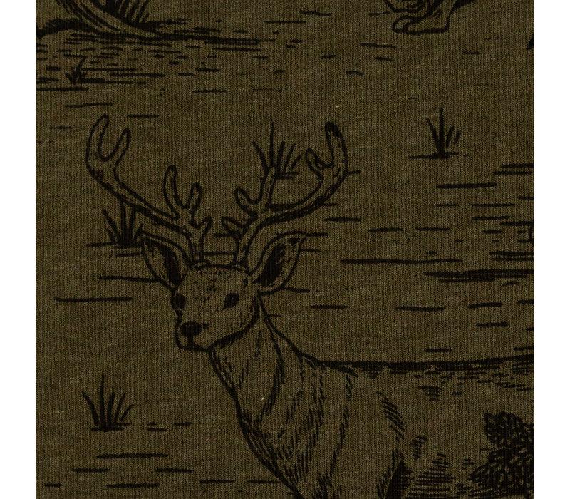 Sweater Drawn Wildlife khaki