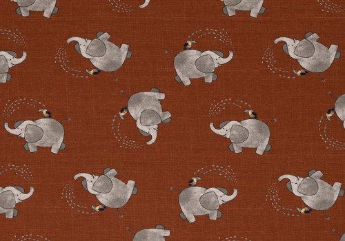 De Stoffenkamer Tricot Savana rusty elephant