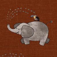 Tricot Savana rusty elephant