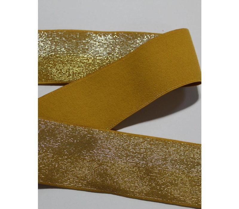 Taille Elastiek 40mm Glitter Oker