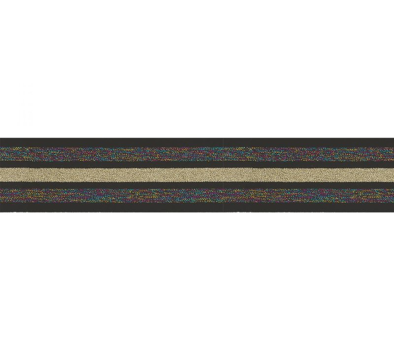Taille Elastiek 40mm Black Multi Gold