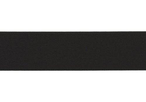 De Stoffenkamer Taille Elastiek 30mm - Black