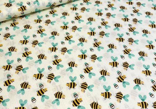 De Stoffenkamer Cotton Soft Yellow Bees