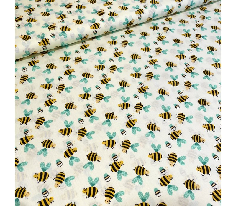 Cotton Soft Yellow Bees