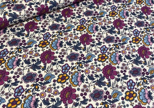 De Stoffenkamer Cotton Bright flowers