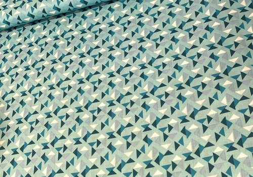 De Stoffenkamer Cotton Turkis Triangles