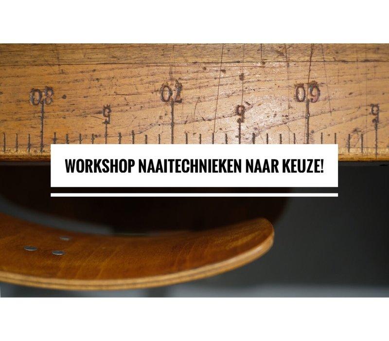 Workshop naaitechnieken naar keuze 28/10 & 11/11