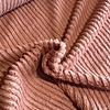 De Stoffenkamer Faux-Fur Fine stripes Marsala
