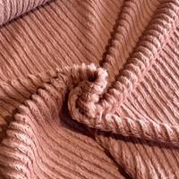 Faux-Fur Fine stripes Marsala
