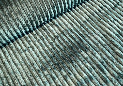 De Stoffenkamer Faux-Fur Big stripes Dark green