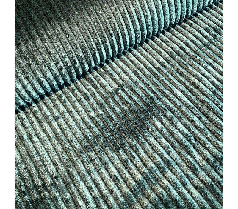 Faux-Fur Big stripes Dark green