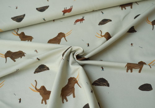 Capsule Fabrics French Terry - Mammoths