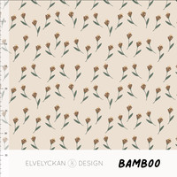 Bio Bamboo French Terry - Off White Flowers