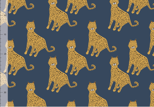 Elvelyckan OEKO  Softshell - Blue Leopard