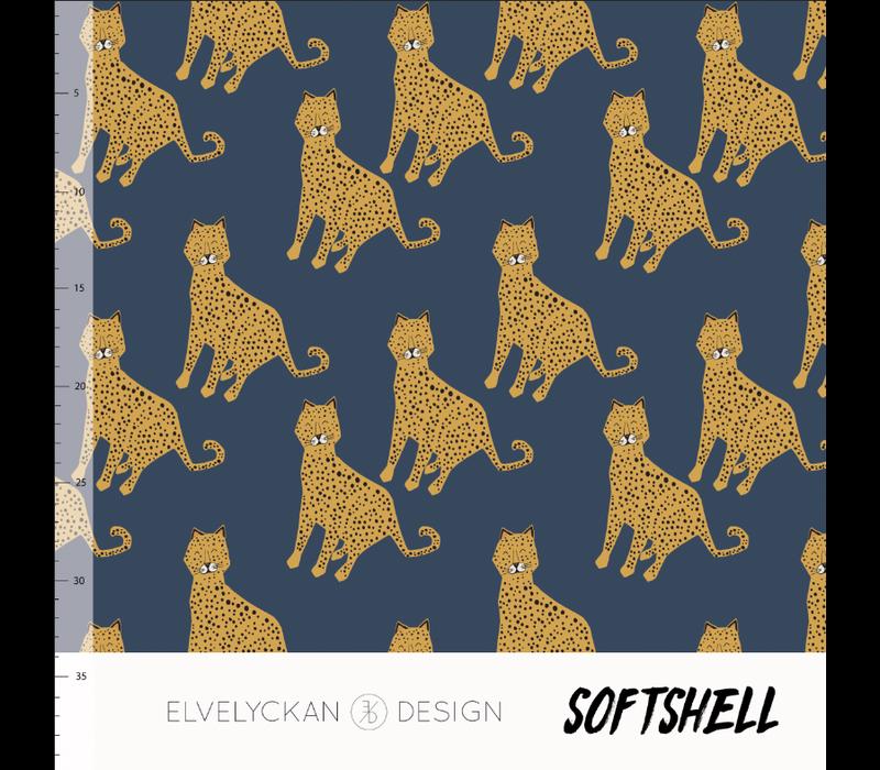 OEKO  Softshell - Blue Leopard