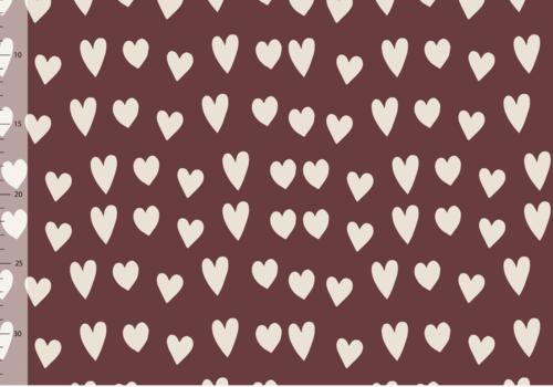 Elvelyckan Bio Tricot - Hearts Wine