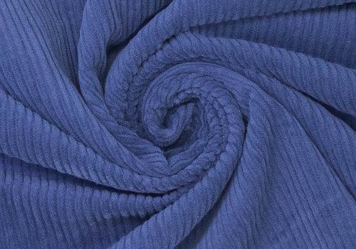 De Stoffenkamer Corduroy brede ribfluweel - Betty Estate Blue