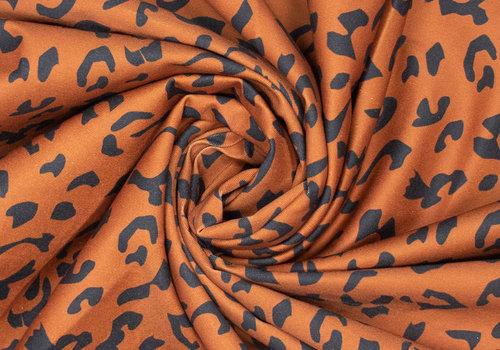 Fibre Mood Stretch Cotton Leopard Alida - brown black