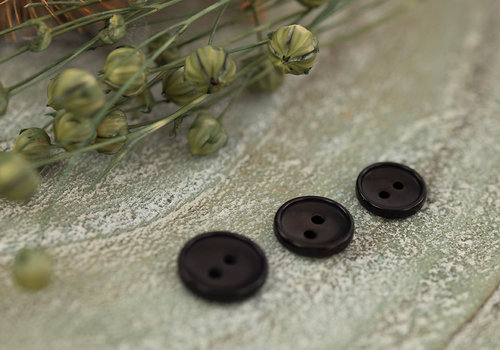 See You At Six SYAS knoopjes Corozo Black - 12mm