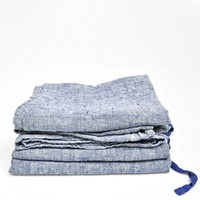 Linnen theedoek Linge Particulier Jeans blauw