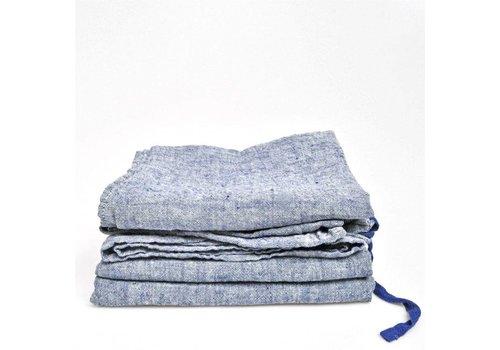 Linge Particulier Linnen theedoek Linge Particulier Jeans blauw