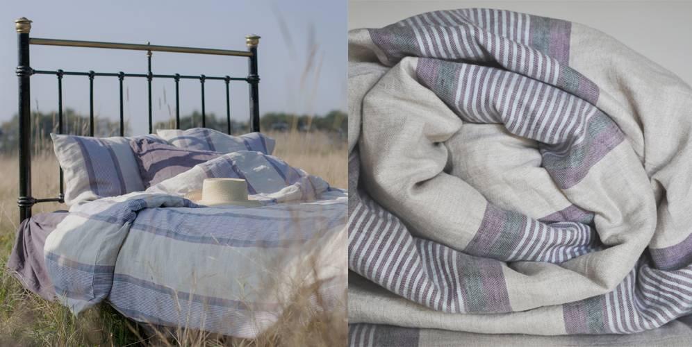 Gezond slapen onder een linnen dekbedovertrek