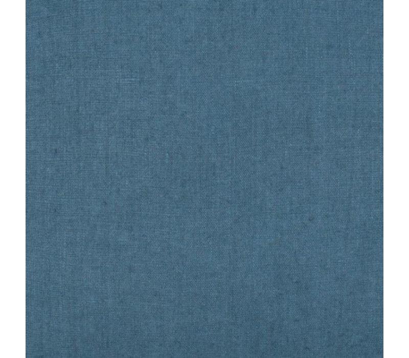 Linnen hoeslaken Uni bleu mineral - meerdere maten