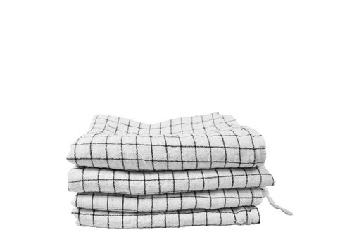 Linge Particulier Linnen theedoek Linge Particulier White Checks