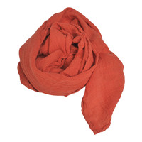 Linnen sjaal Linge Particulier oranje