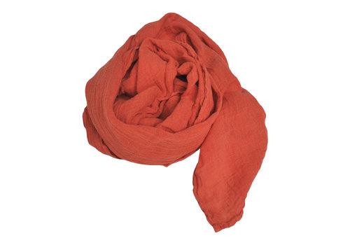 Linge Particulier Linnen sjaal Linge Particulier oranje