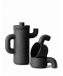 Black gold coffee pot