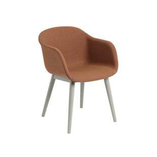 Fiber Armchair wood base upholstery (showroommodel)