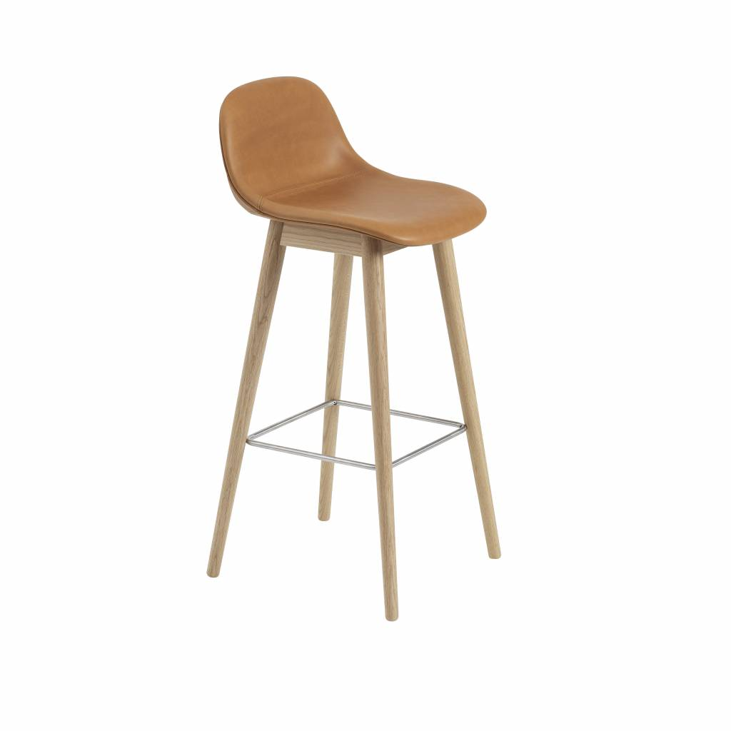 Prime Muuto Fiber Bar Stool Wood Base With Backrest Gmtry Best Dining Table And Chair Ideas Images Gmtryco
