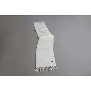 Shawl Fine Texel Wool White 200 x 32,5 cm