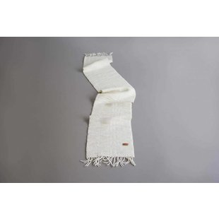 Shawl Raw Texel Wool White 200 x 32,5 cm