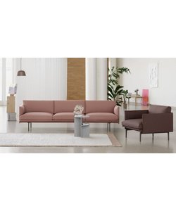 Exclusive Outline Twill Weave collection - 3  1/2 seater
