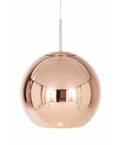 Copper Round Pendant 45 cm