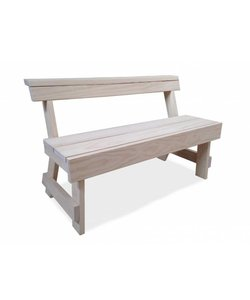 Berit bench with back showroom model