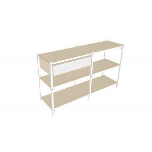 24mm Construction cabinet 3 shelves wide