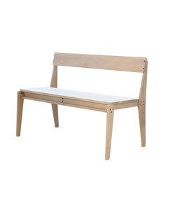Plankbank showroommodel blank eiken