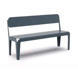Bended Bench with Backrest 140cm