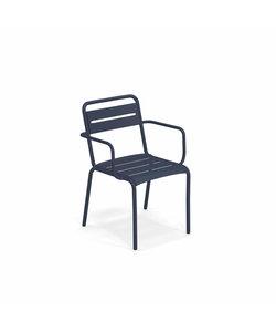 Star Poltrocina - stoel met armleuning 'blu scuro'
