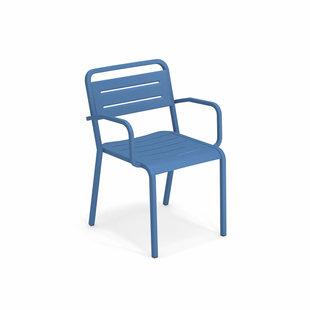 Urban Poltrocina - aluminium buitenstoel met armleuning