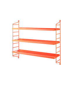 Pocket shelving metal